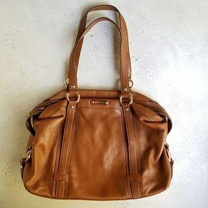 Michael Kors Brown Pebbled Leather Bag - md